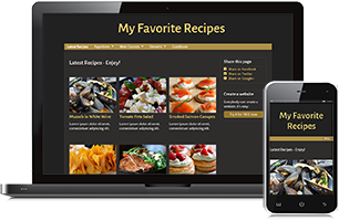 Recipes website example